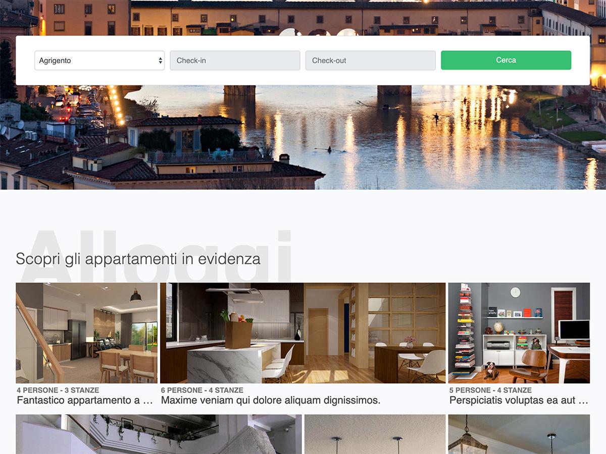 Demo di un portale simile ad Airbnb.